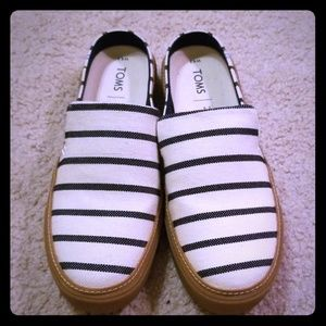 New, never worn Tom's slip on shoes